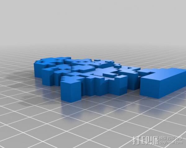 8bit 银河战士 洛克人 3D模型  图11