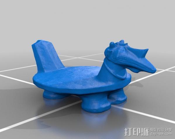 古代贵族座椅 3D模型  图2