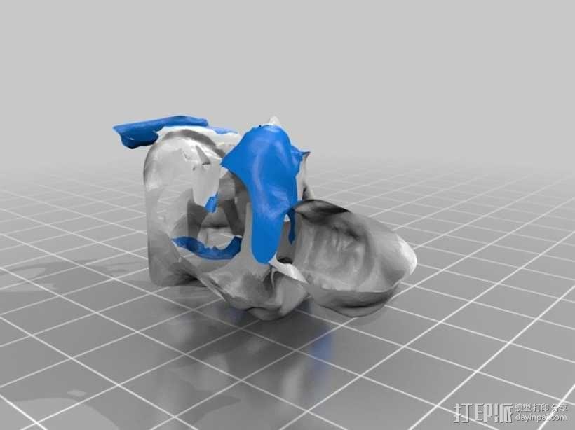 蹲跪式佛像 3D模型  图3