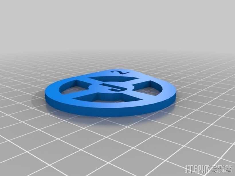 J2标志 3D模型  图2