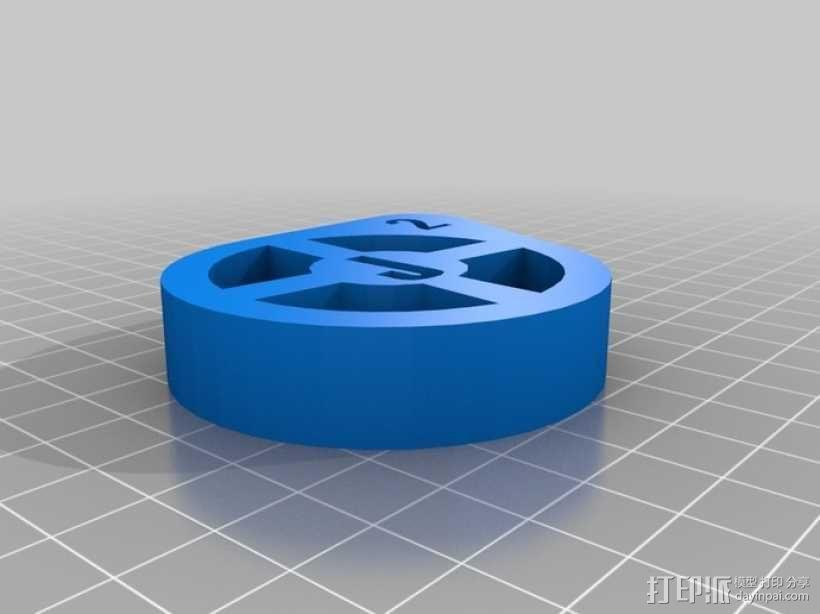 J2标志 3D模型  图1