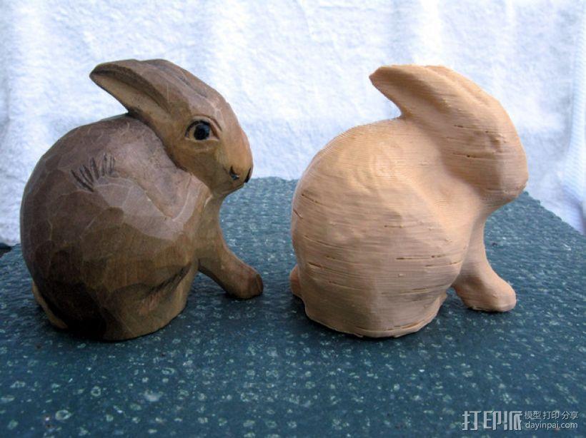 兔子雕塑 3D模型  图1
