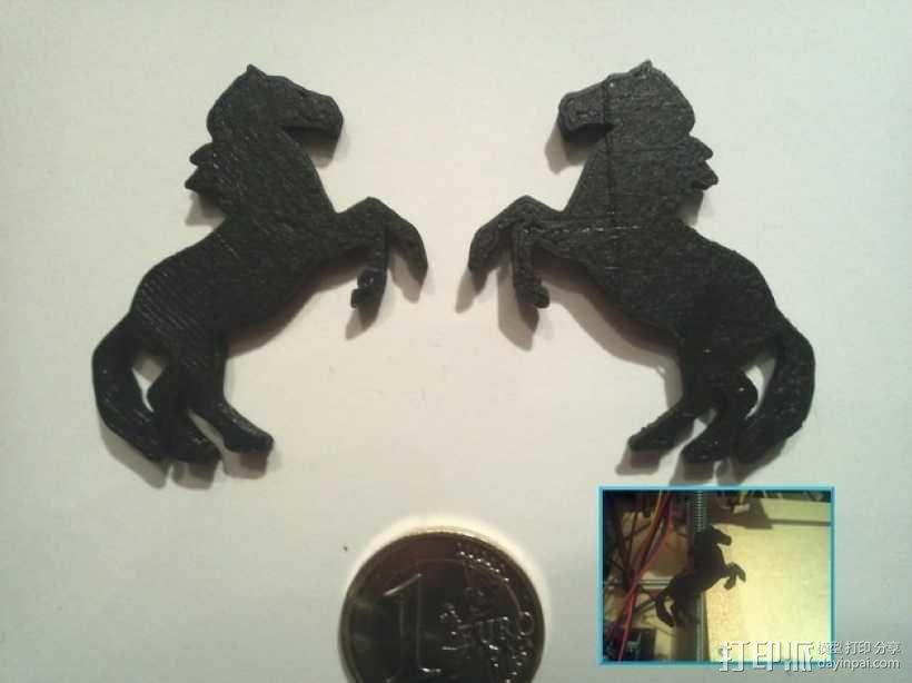 马形冰箱贴 3D模型  图1