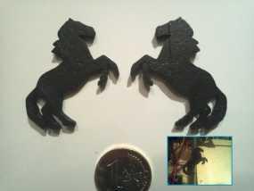 马形冰箱贴 3D模型
