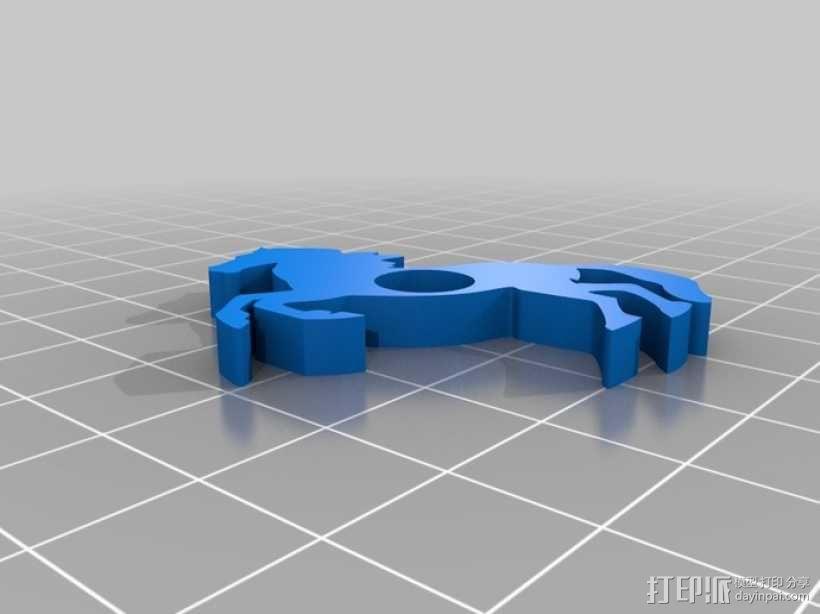 马形冰箱贴 3D模型  图4