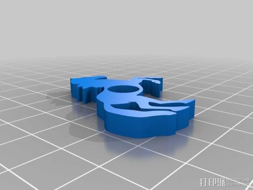 马形冰箱贴 3D模型  图5