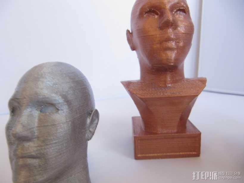头像生成器 雕塑 3D模型  图1