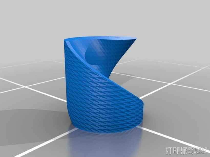 参数化阴阳圆柱体 3D模型  图1