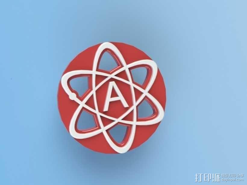 原子结构图装饰品 3D模型  图1