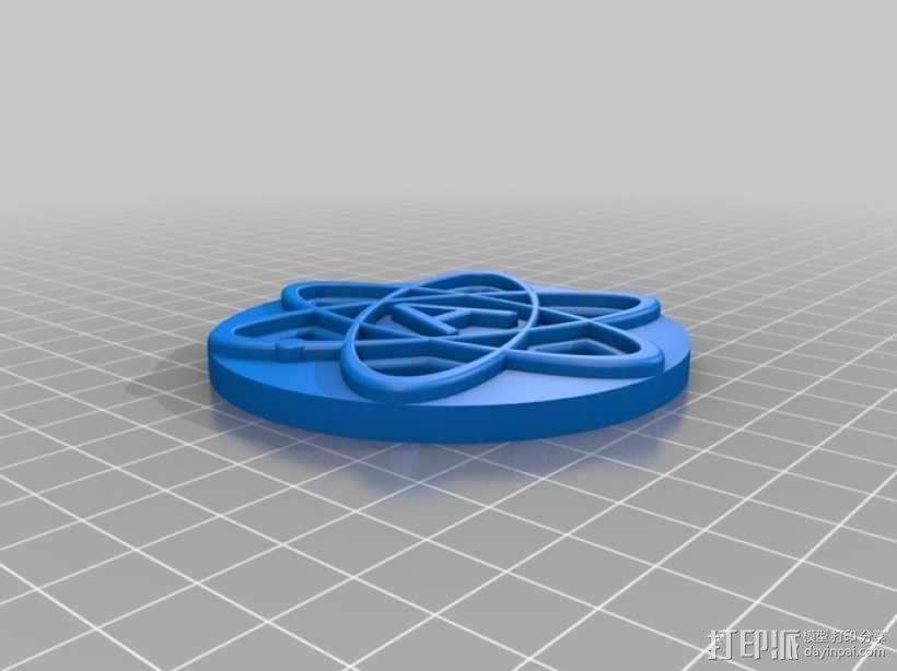 原子结构图装饰品 3D模型  图2