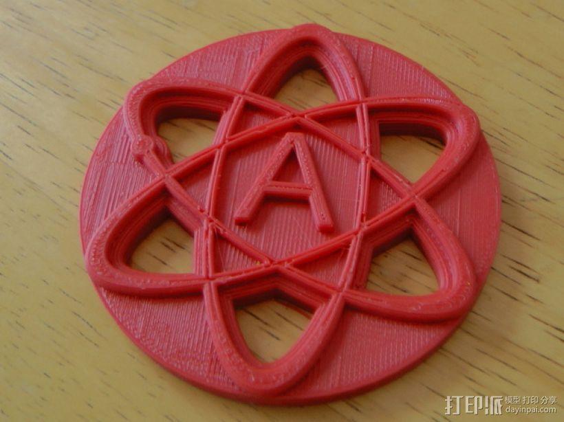原子结构图装饰品 3D模型  图3