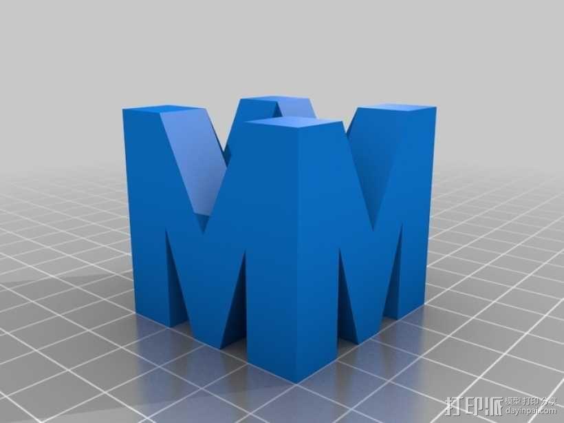 巨力集团标志 3D模型  图1