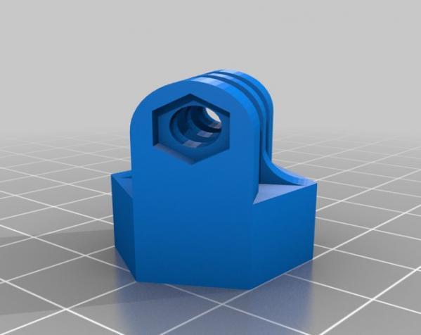 GoPro相机三角架底座 3D模型  图1
