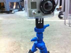 GoPro相机三角架底座 3D模型