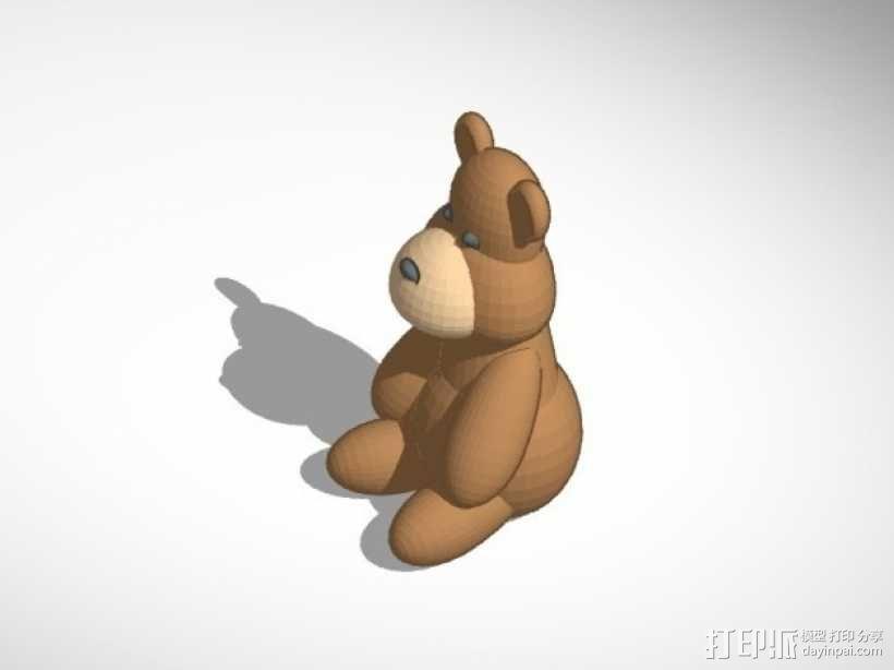 泰迪熊 3D模型  图3