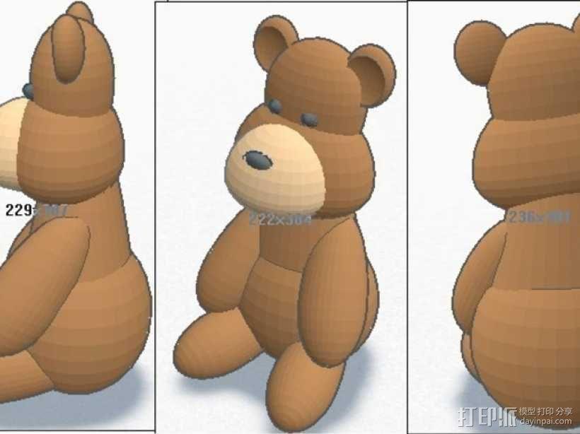 泰迪熊 3D模型  图2