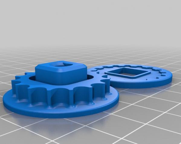 极谱仪链轮 3D模型  图1