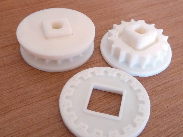 极谱仪链轮 3D模型  图2