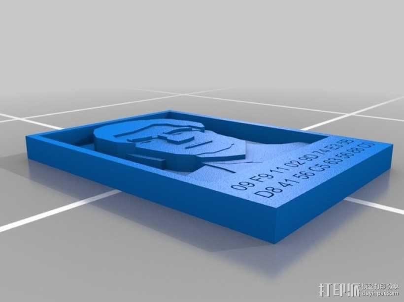 克里斯多夫·杜德肖像 3D模型  图1