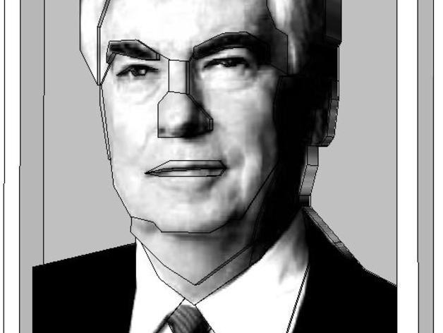 克里斯多夫·杜德肖像 3D模型  图2