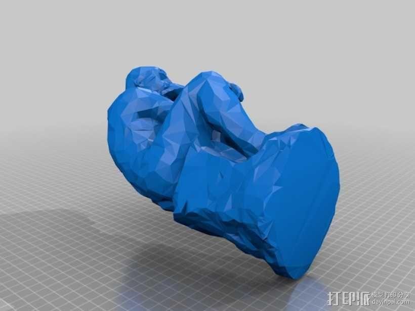 思想者 雕塑 3D模型  图1