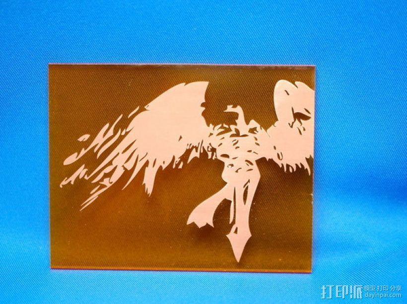 审判天使Kayle雕刻 3D模型  图2