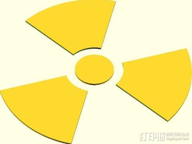 放射性标志 3D模型  图1