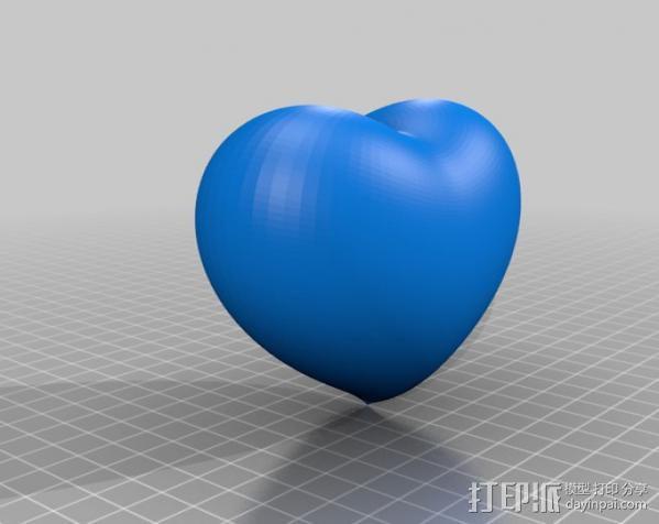 心形饰品 3D模型  图2
