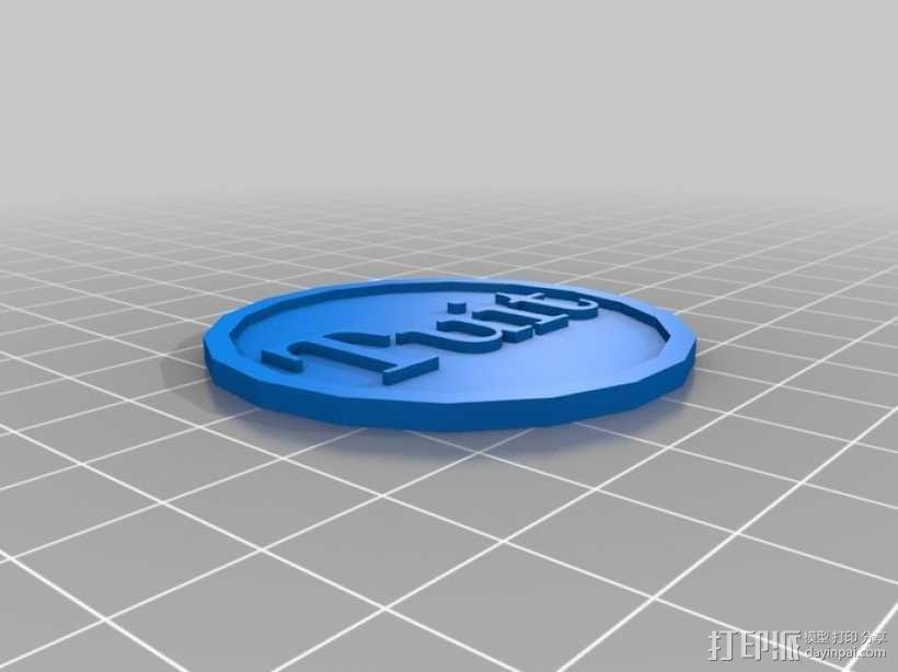 圆形坠饰 3D模型  图1