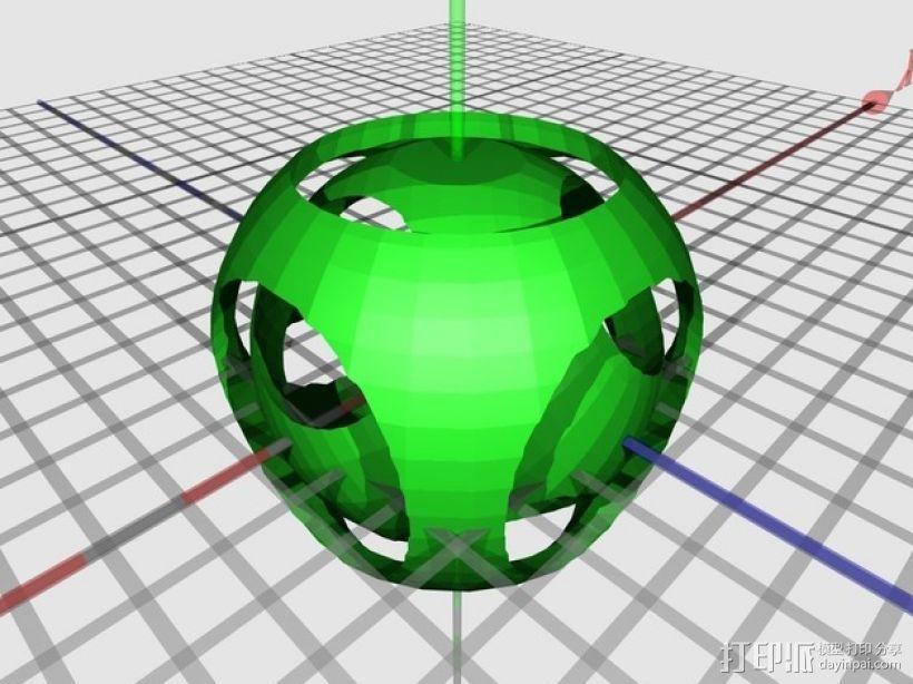 嵌套式巢形圆球 3D模型  图2