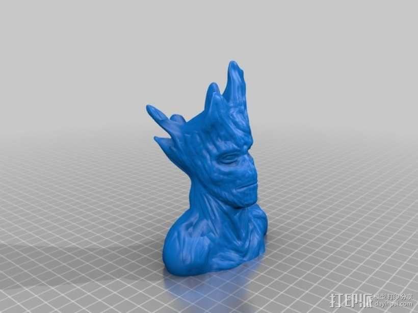 树精格鲁特 雕像 3D模型  图2