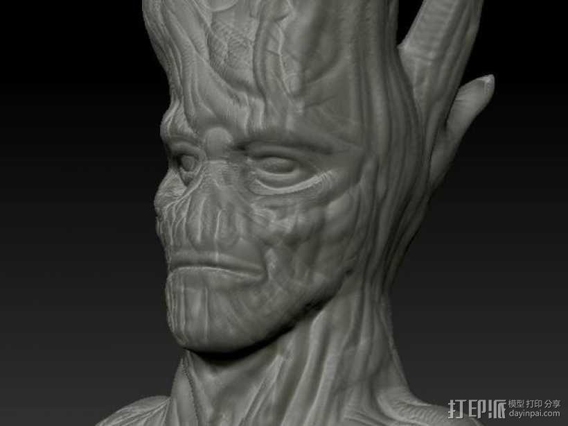 树精格鲁特 雕像 3D模型  图1
