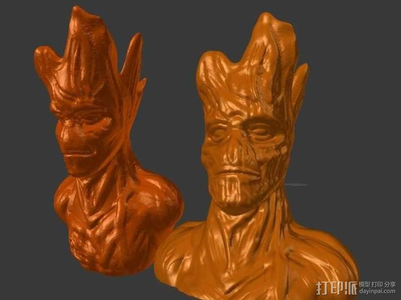 树精格鲁特 雕像 3D模型  图3