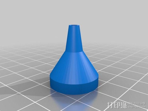 长颈漏斗 3D模型  图2