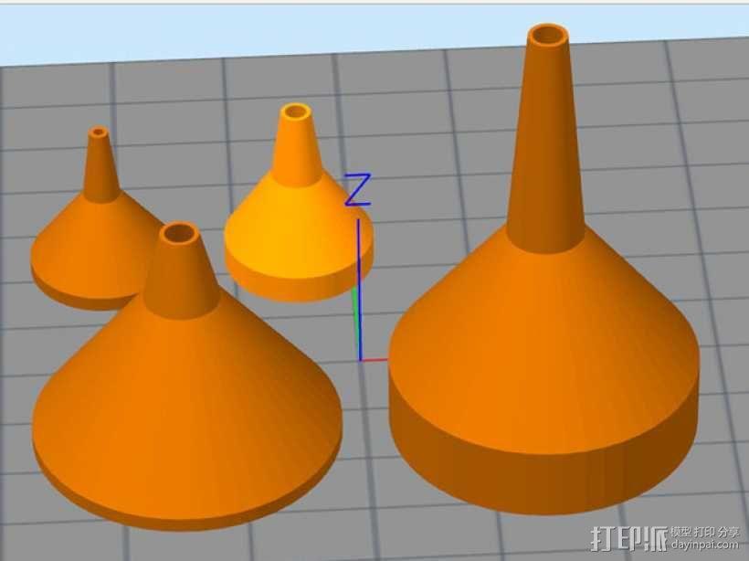 长颈漏斗 3D模型  图1