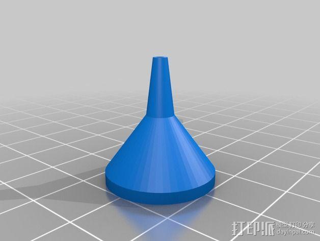 长颈漏斗 3D模型  图3