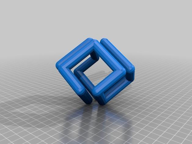 硅谷图形公司立方体标志 3D模型  图2