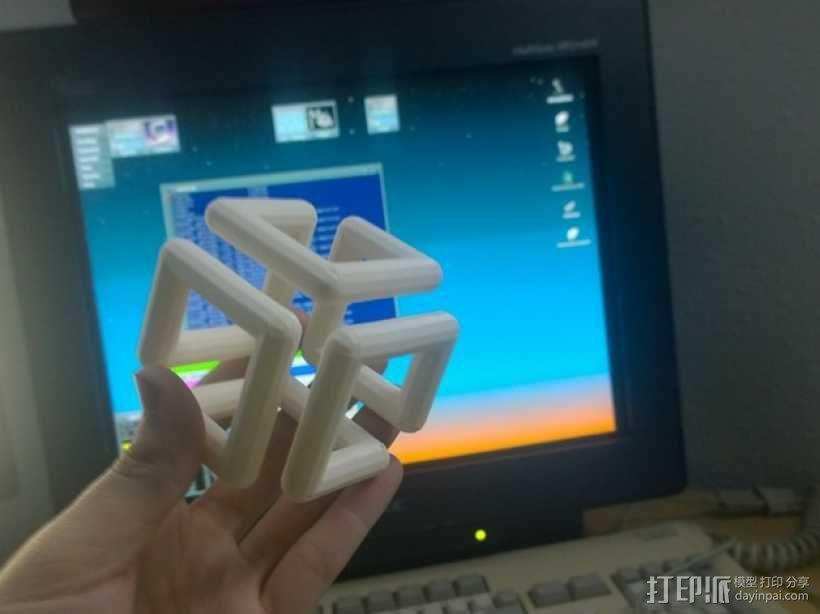 硅谷图形公司立方体标志 3D模型  图1
