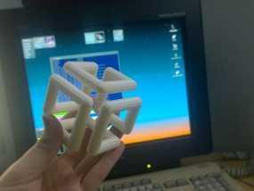 硅谷图形公司立方体标志 3D模型