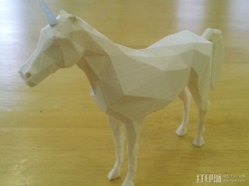 低聚独角兽 3D模型  图1