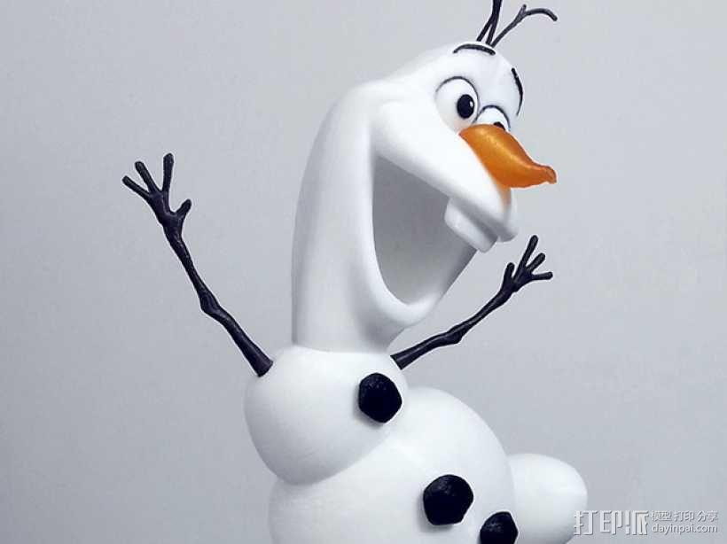雪人奥拉夫 3D模型  图2