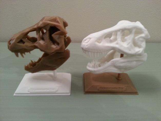 低面数 霸王龙头骨 3D模型  图2