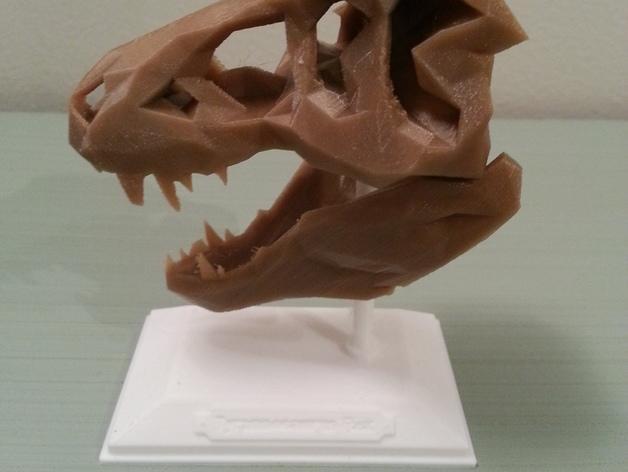 低面数 霸王龙头骨 3D模型  图4