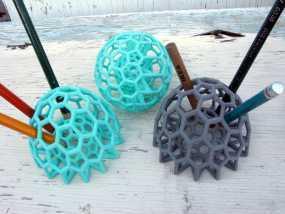巴基球 笔架 3D模型