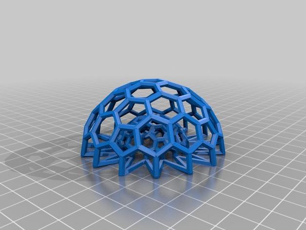 巴基球 笔架 3D模型  图2
