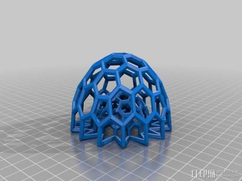 巴基球 笔架 3D模型  图3