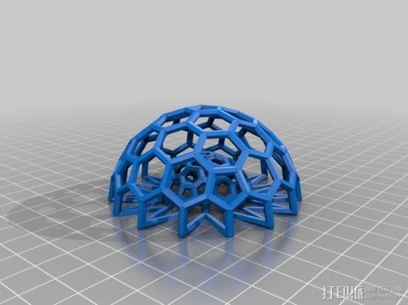 巴基球 笔架 3D模型  图5