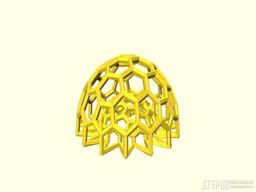 巴基球 笔架 3D模型  图4