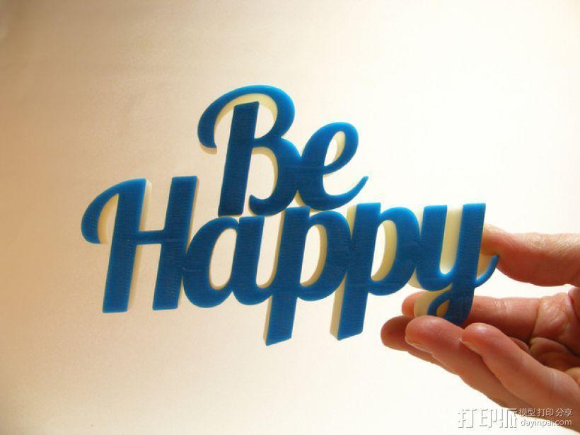 Be Happy文本模型 3D模型  图1