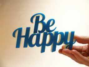 Be Happy文本模型 3D模型